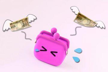 財布からお金が逃げていくイメージ